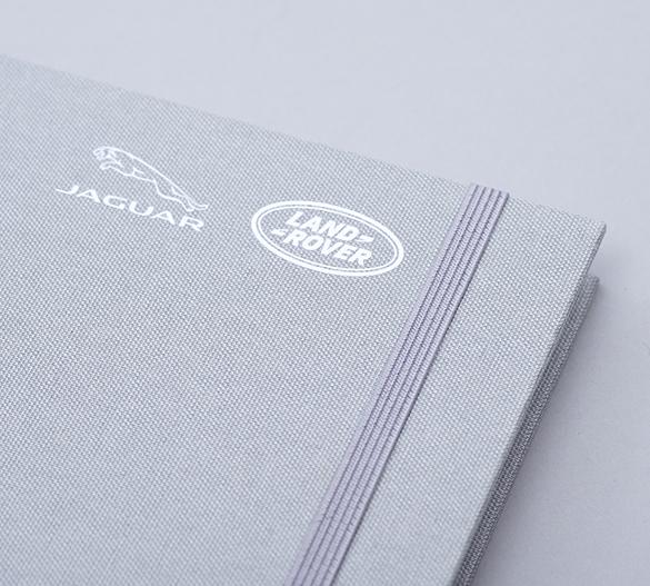 MN33 Mindnotes à couverture rigide de textiles Lino color, Lino nature