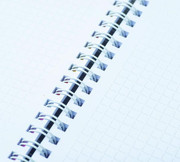 PM301 Bloc-notes à couverture rigide à spirale